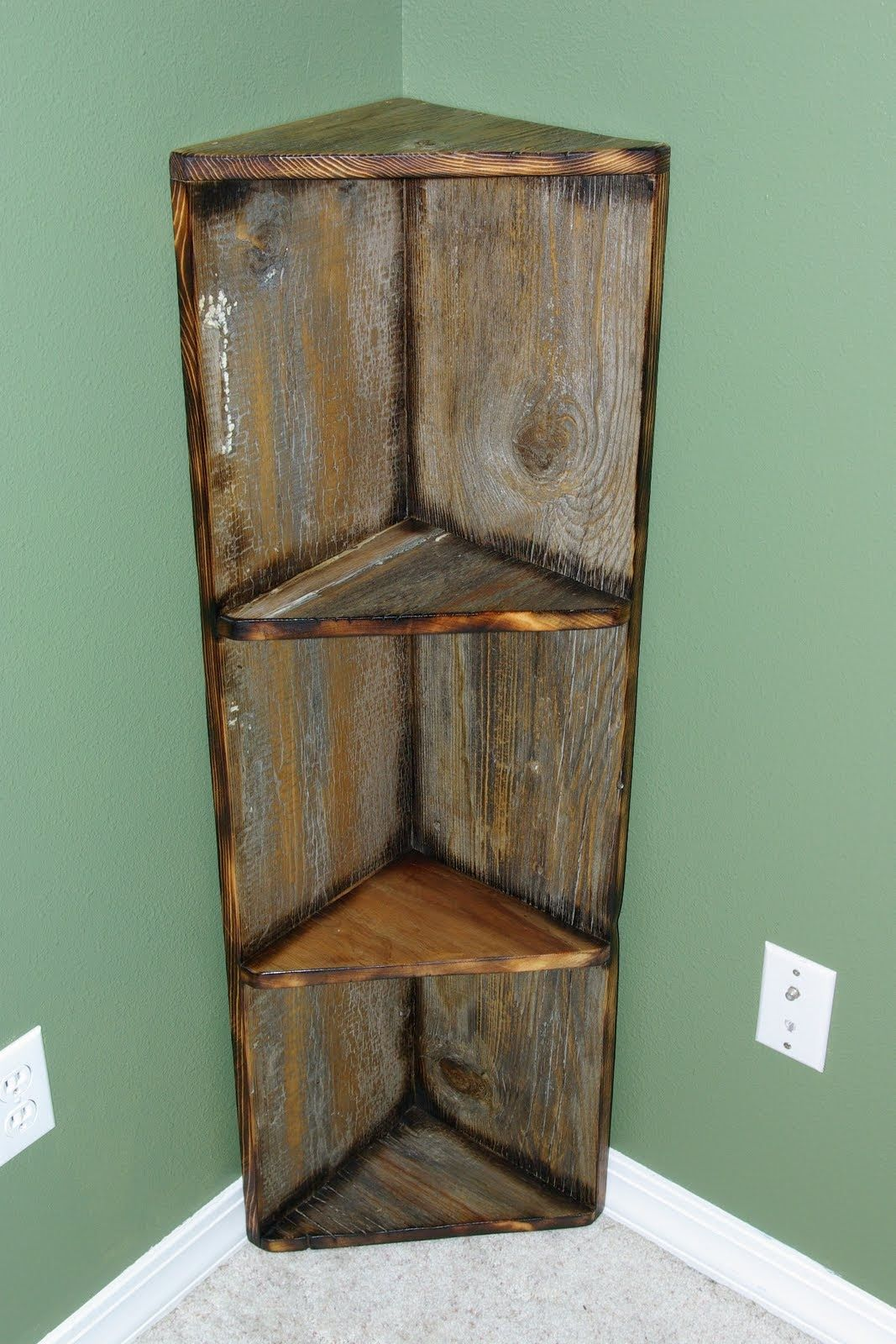 Old barn wood home decor easy to place decorative corner for Fancy wood bookshelves