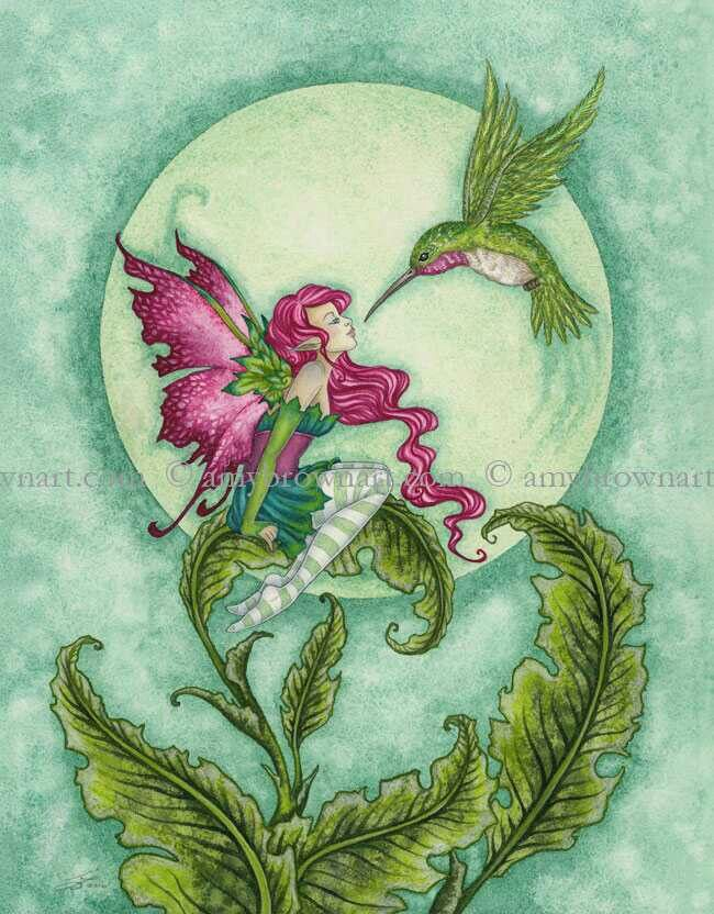 fairy and hummingbird