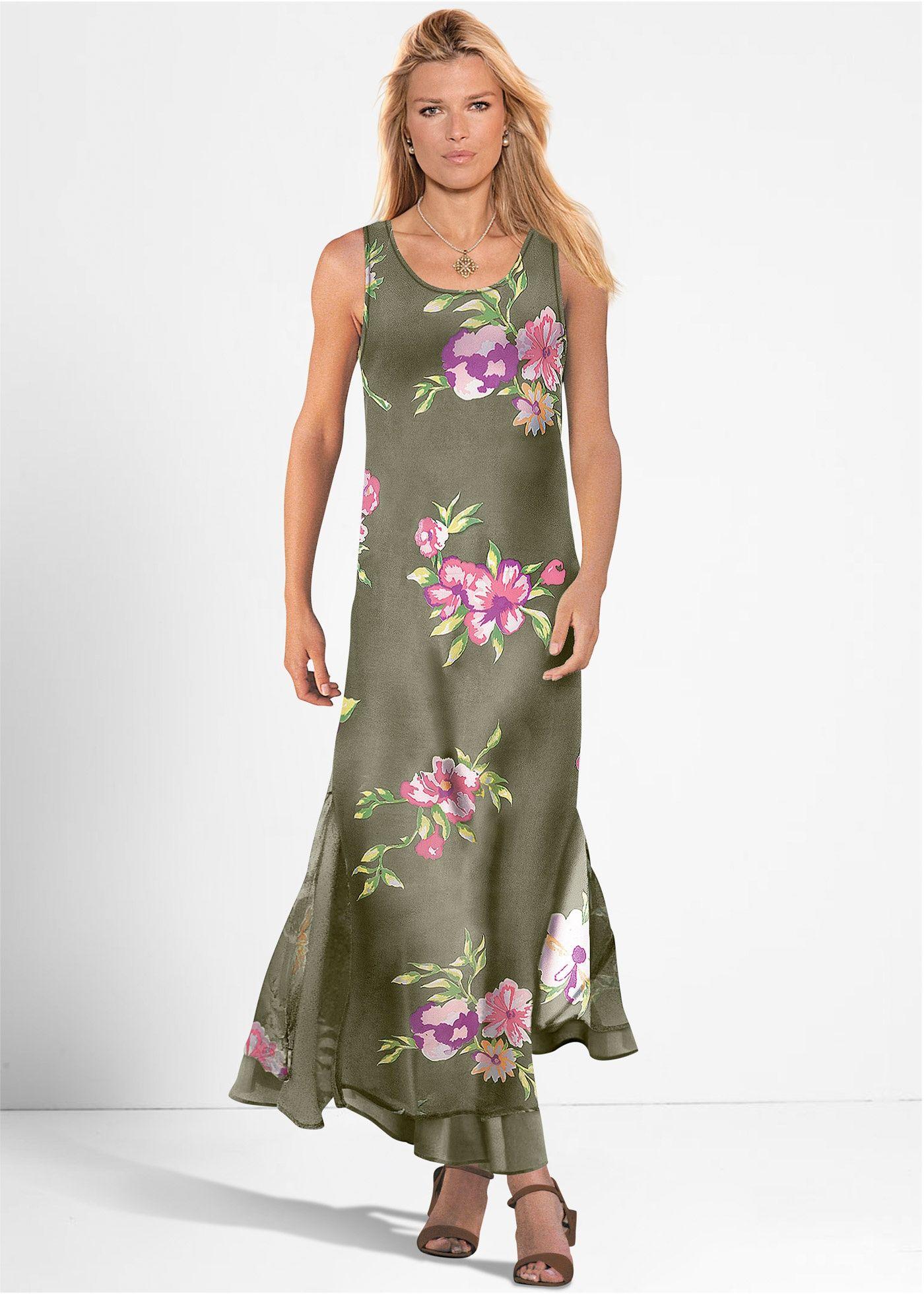 Kleid oliv geblümt - bpc selection jetzt im Online Shop ...