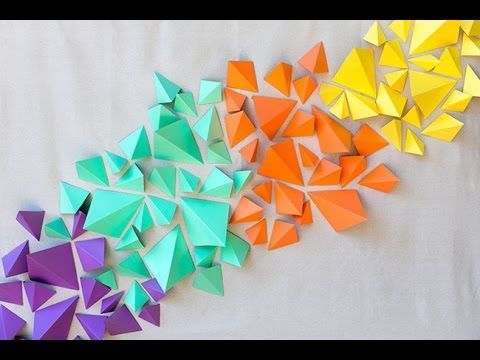 How to Make Kraft Paper Geometric Backdrop - YouTube