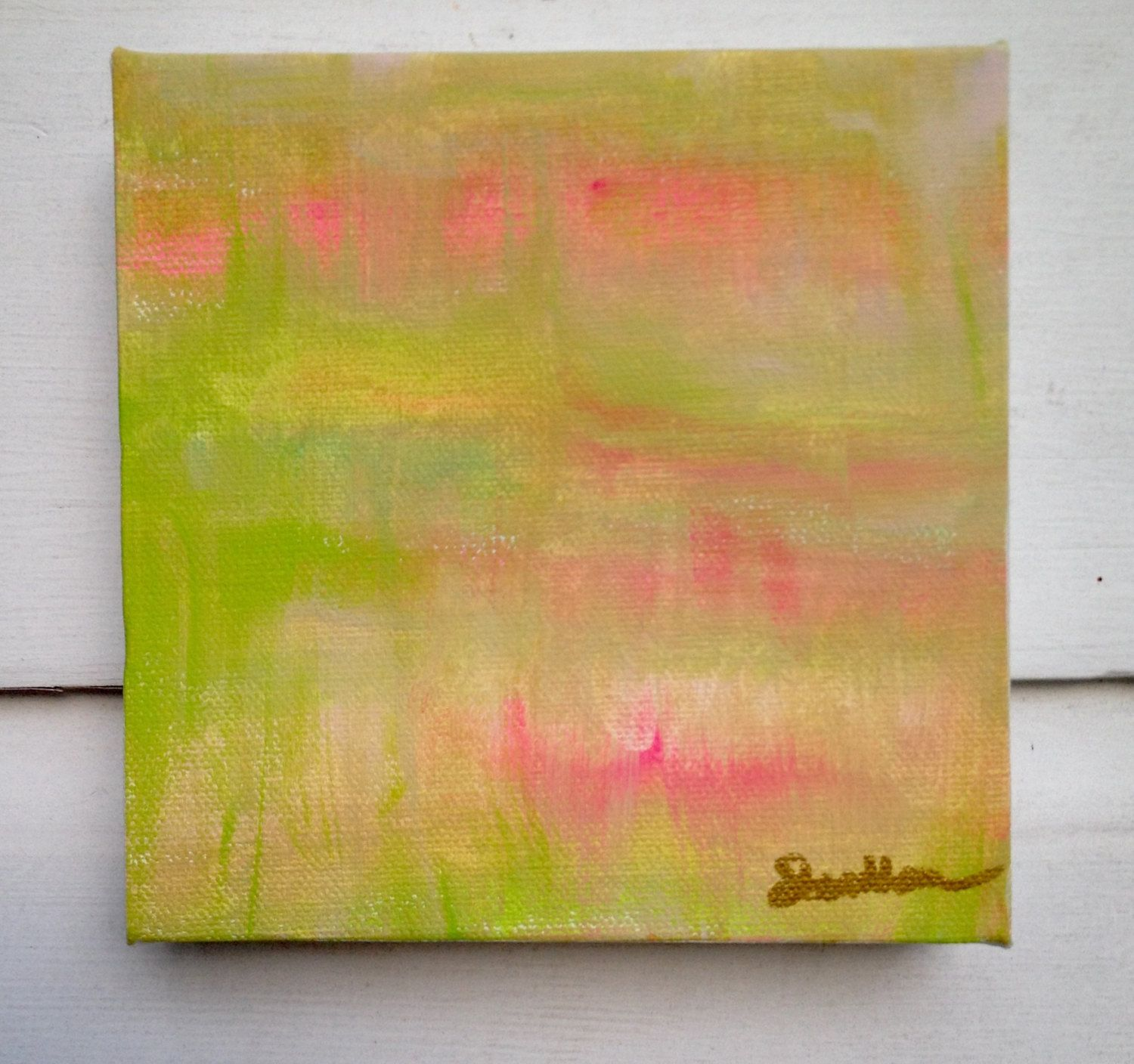 Abstract Original Painting/Colorful Gallery Wall Art by ...