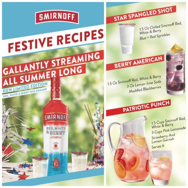 Smirnoff Red White And Berry Recipes