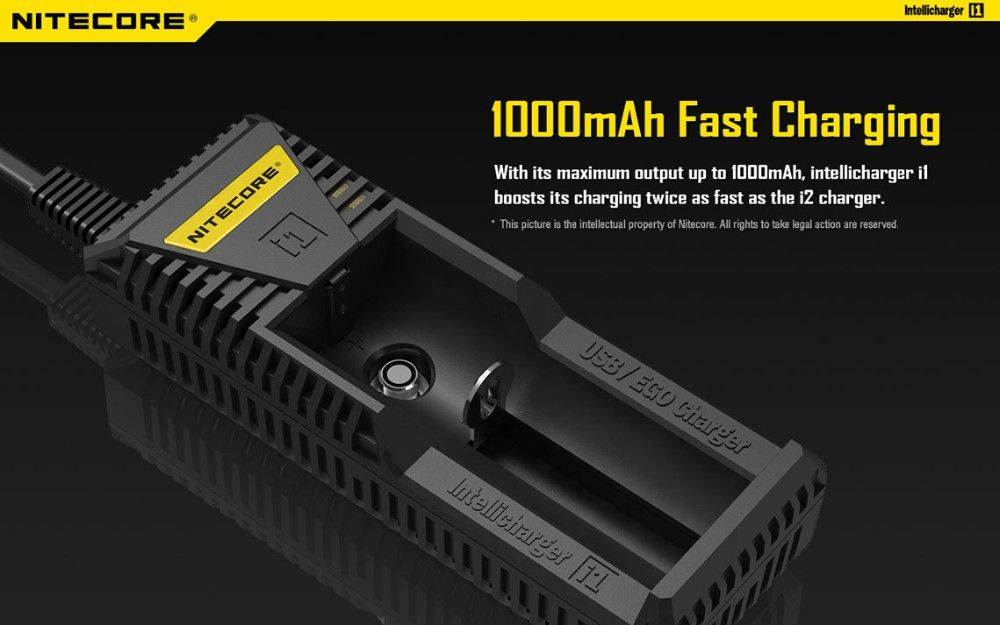 Original New Nitecore i1 Smart Battery Charger for EGO / Li-ion Battery with USB Output Charger for Cell Phone Free Shipping