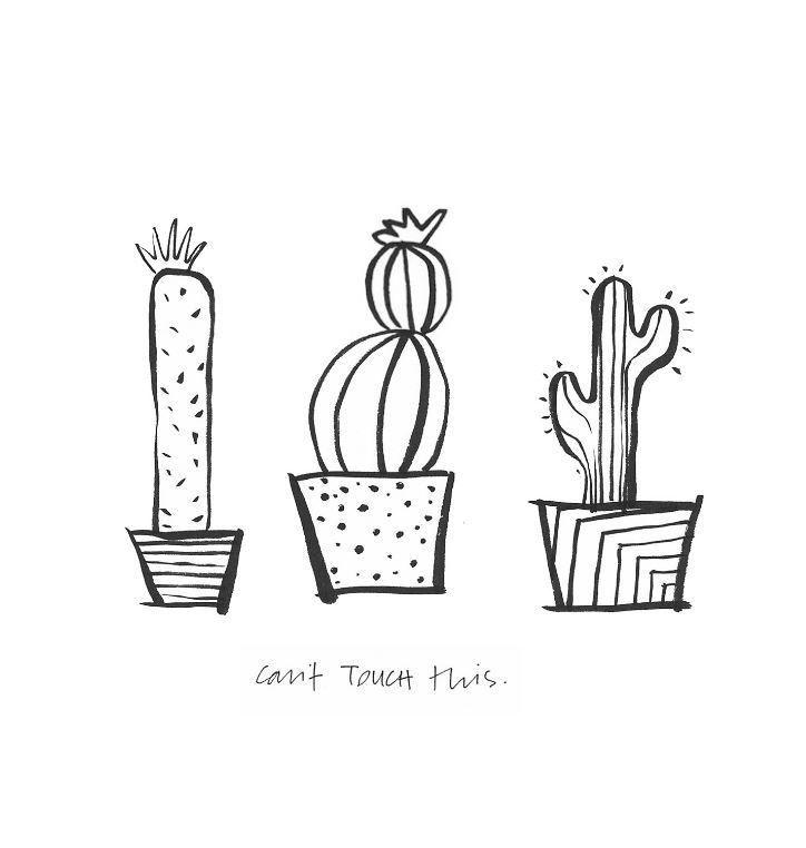 Printable Wall Art For Living Room: Clever Cacti Printable Wall Art