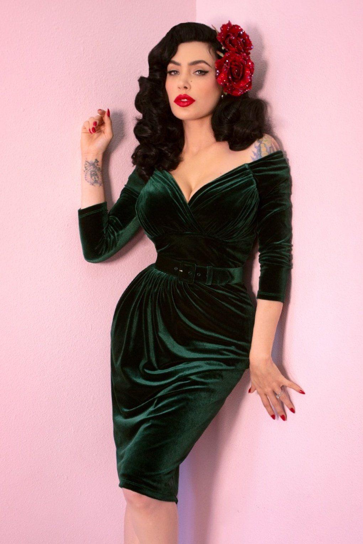 Vintage Style Dresses Vintage Inspired Dresses Vintage Style Dresses Green Velvet Dress Dresses [ 1530 x 1020 Pixel ]