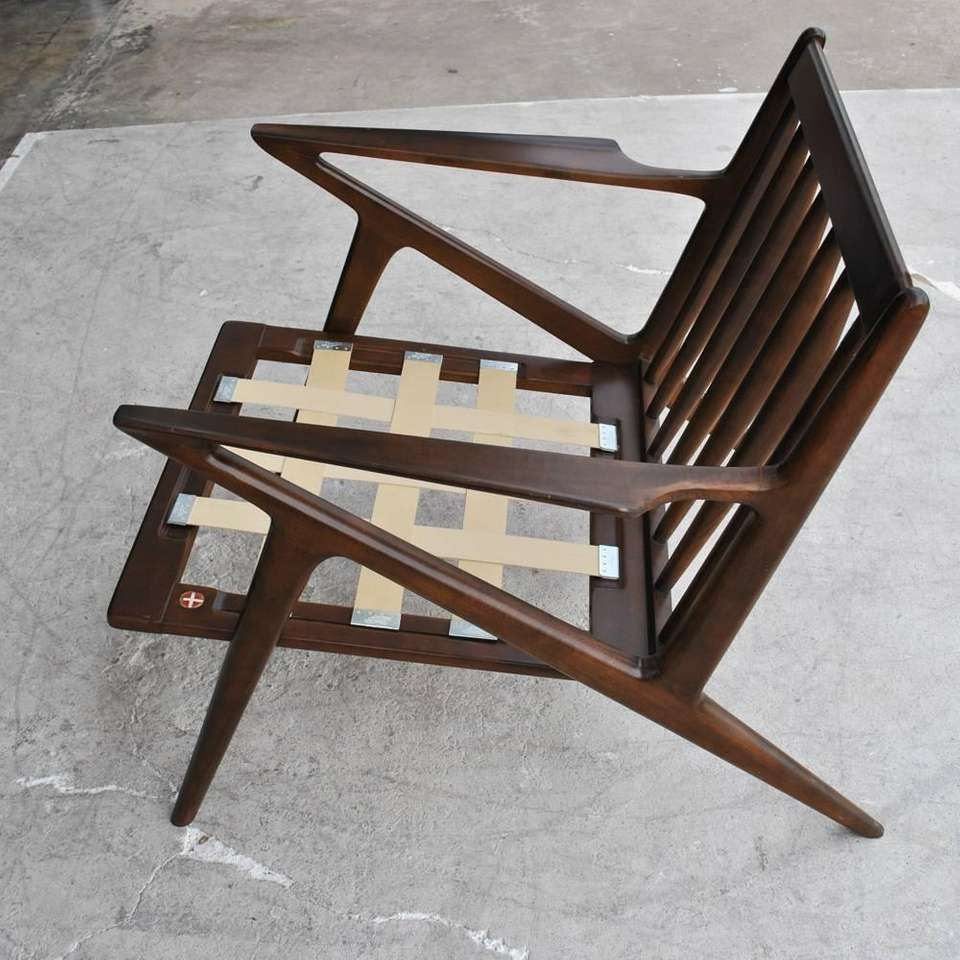 Vintage Midcentury Z Chair by Poul Jensen for Selig  Chair design