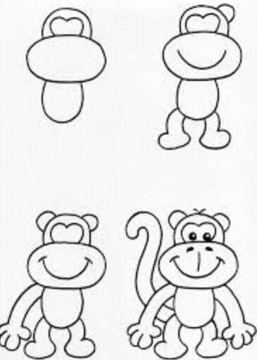 Mono Feliz Gorila En 2019 Dibujos Dibujos Faciles Y Dibujos De