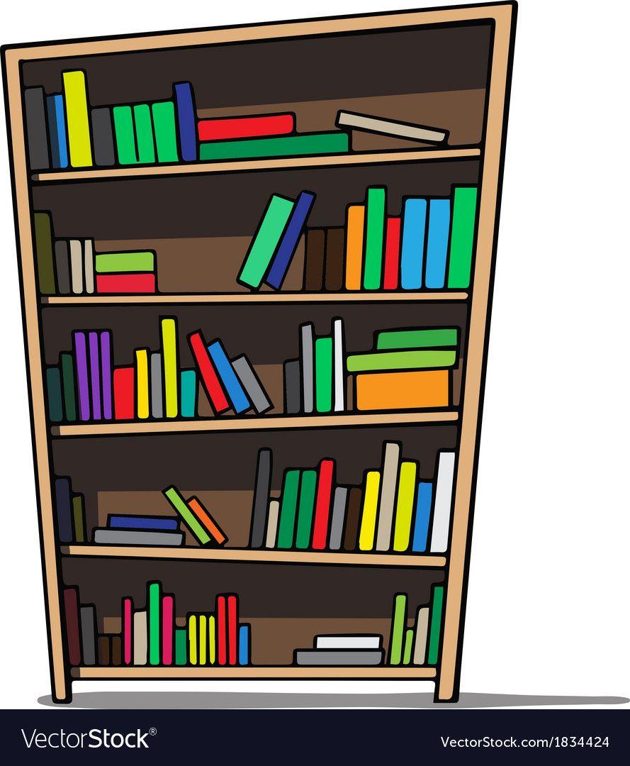 Cartoon Bookcase Images Fresh Cartoon Of A Bookshelf Royalty Free Vector Image Bookshelf Art Vintage Bookshelf Painting Bookcase
