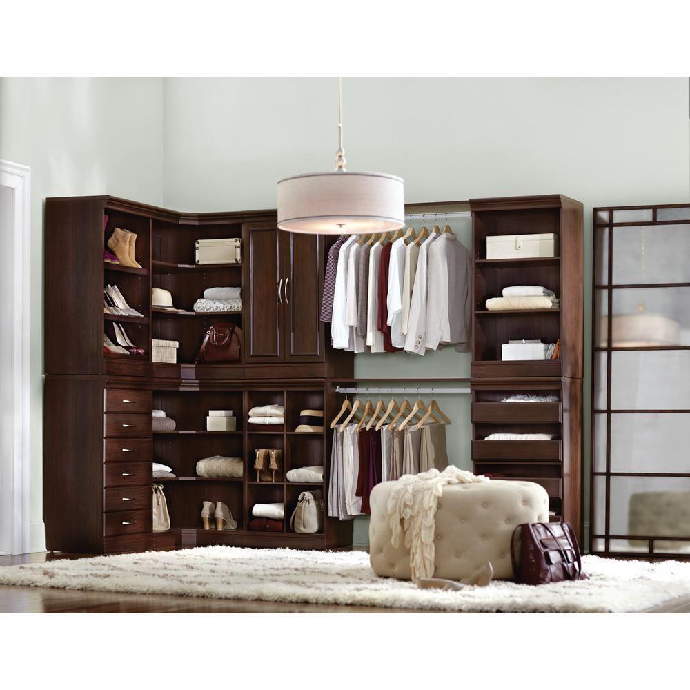 manhattan modular 3 shelf storage corner cabinet in natural