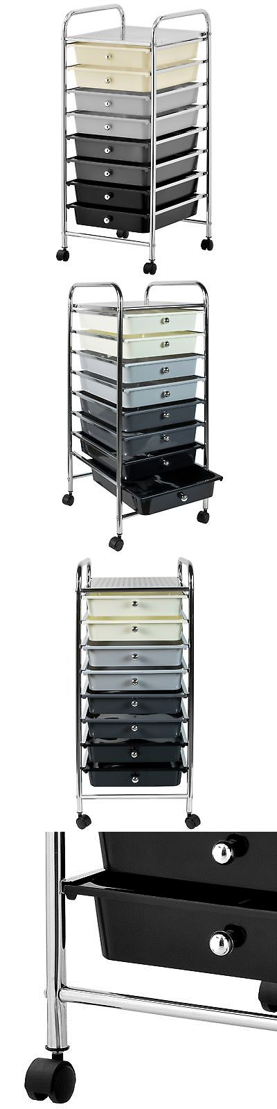 Craft Carts 146400 8 Drawer Rolling Trolley Storage Organizer Mobile Office Supply Cart With Pul It Now Only 60 09 On Ebay