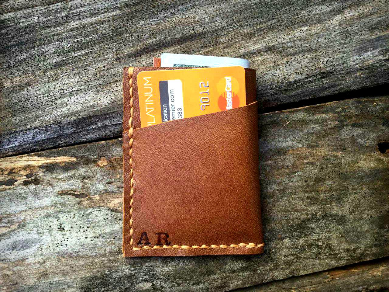 2e4f357463c23 Set of 4 No. 1 Front Pocket Wallet PERSONALIZED