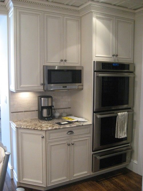 Kitchen Corner Double Oven Warming Tray Trim Work Around
