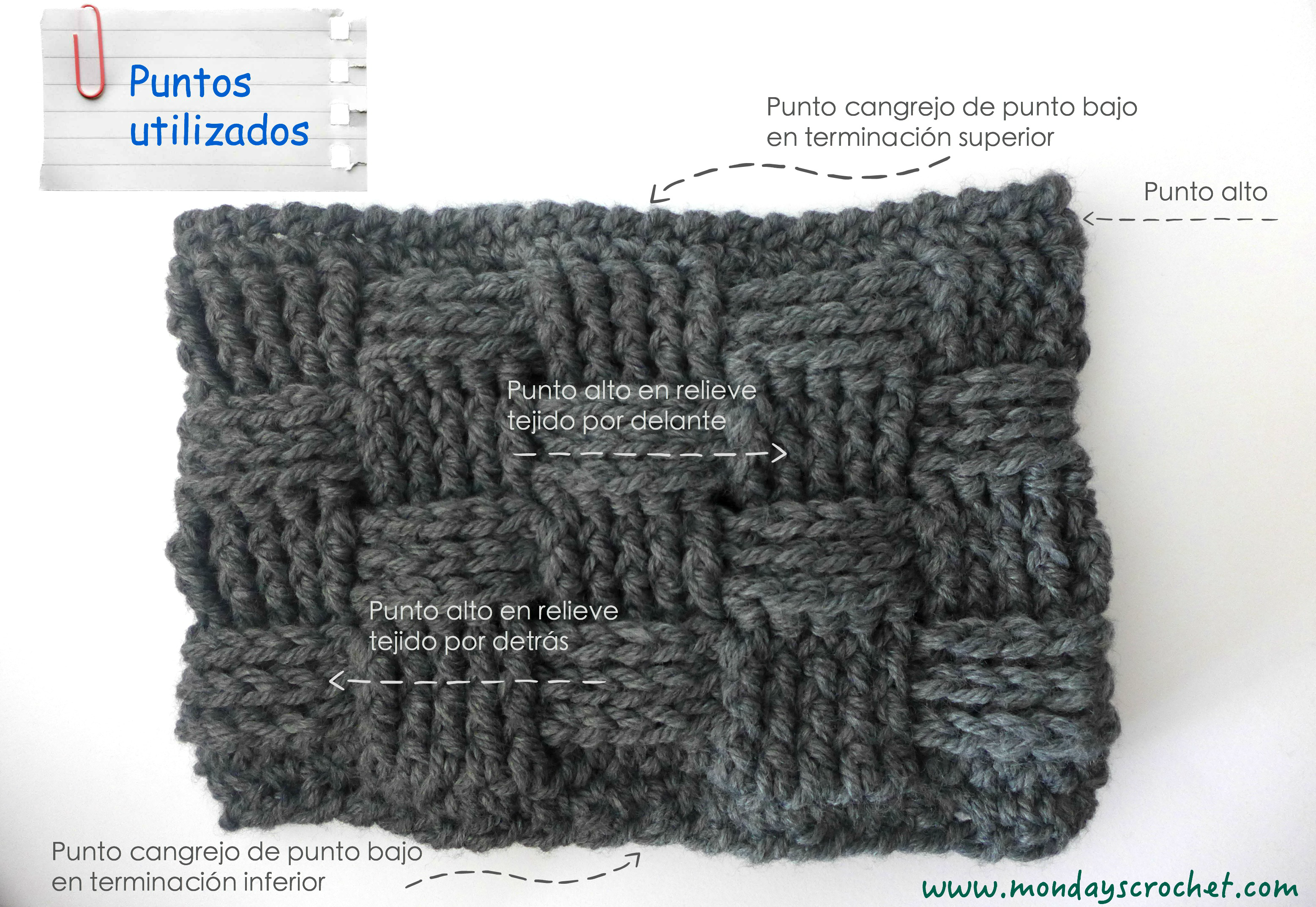 Cuello para hombre de crochet   Crochet cowl for men.  13b2d9b1553