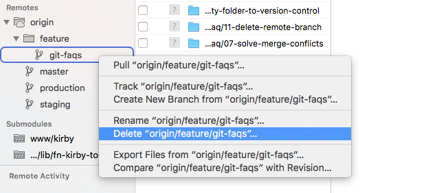 How Can I Delete A Remote Branch In Git Remote Git Web Development