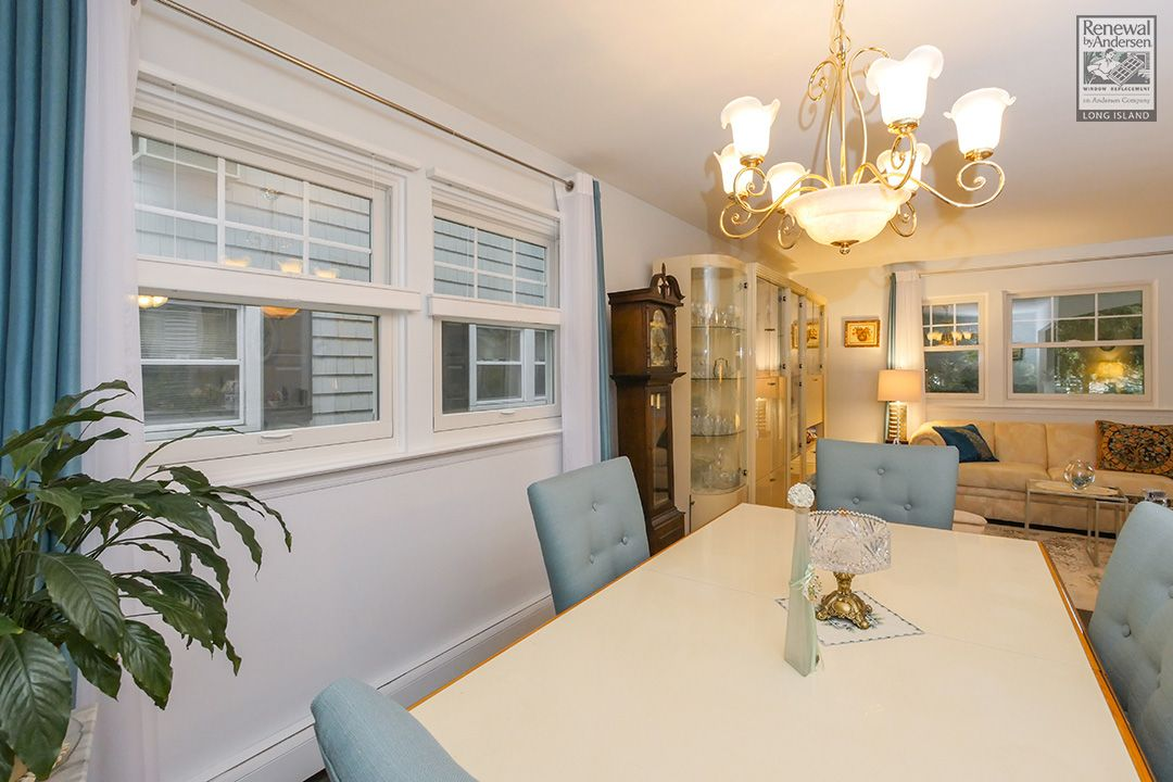 This great retro-flavored, modern dining room was part of a larger job we completed in Nassau County...   Home Improvement / Home Remodeling / Home Renovation / New Replacement Windows from Renewal by Andersen Long Island
