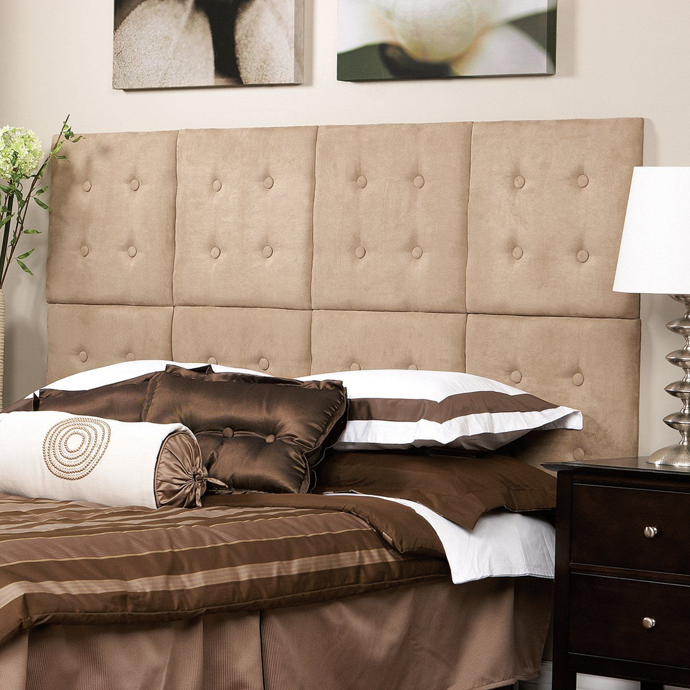 Upholstered Wall Panel Headboard With Elegant Net Design Fn19 Luxe Panels