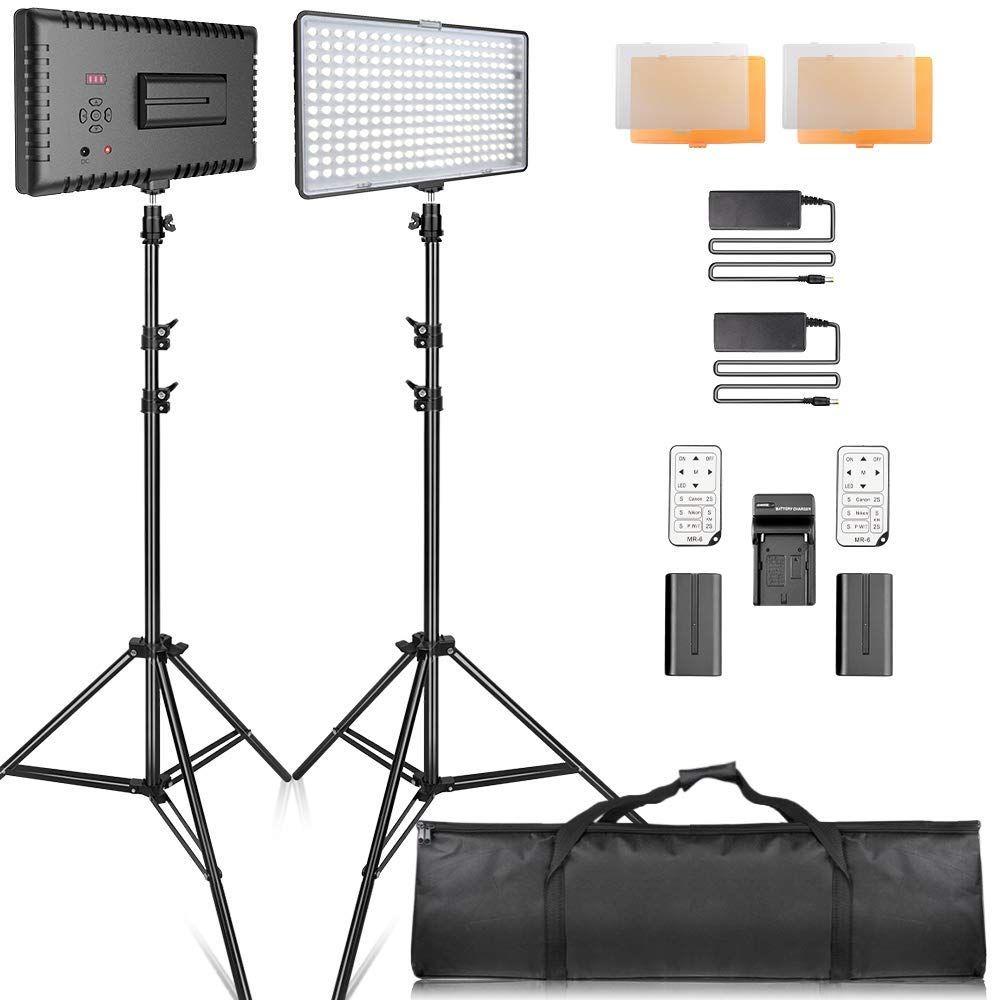 Video Licht Led Samtian Led Videoleuchte Kit Fotografie Beleuchtung Mit Stander Led Panel Set 240pcs 3200 5600k Fur Youtub Led Panel Led Leuchten Beleuchtung