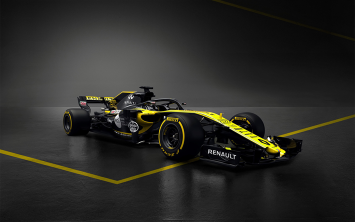 Download Wallpapers Formula 1 Renault Rs 18 4k Formula One New Renault F1 2018 Cars F1 Halo Renault F1 Besthqwallpapers Com Temporadas Carros Motorizada