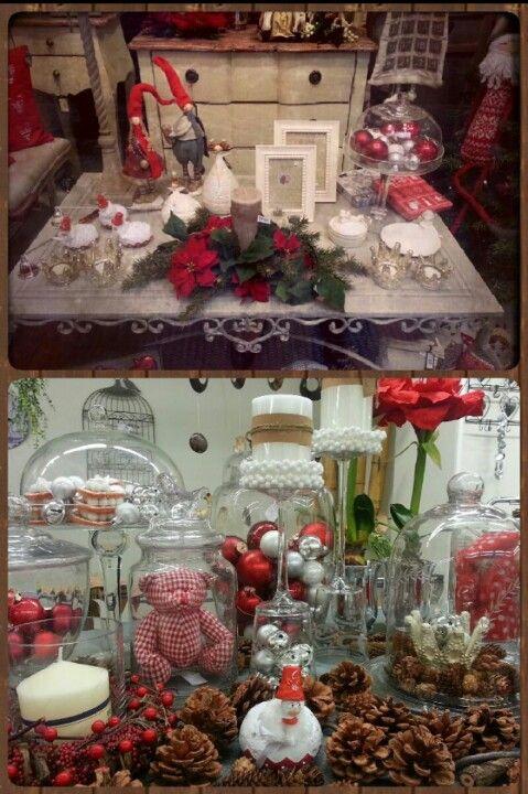 Navidad 2012. Ideas para decorar con jarrones de cristal. www.articoencasa.com