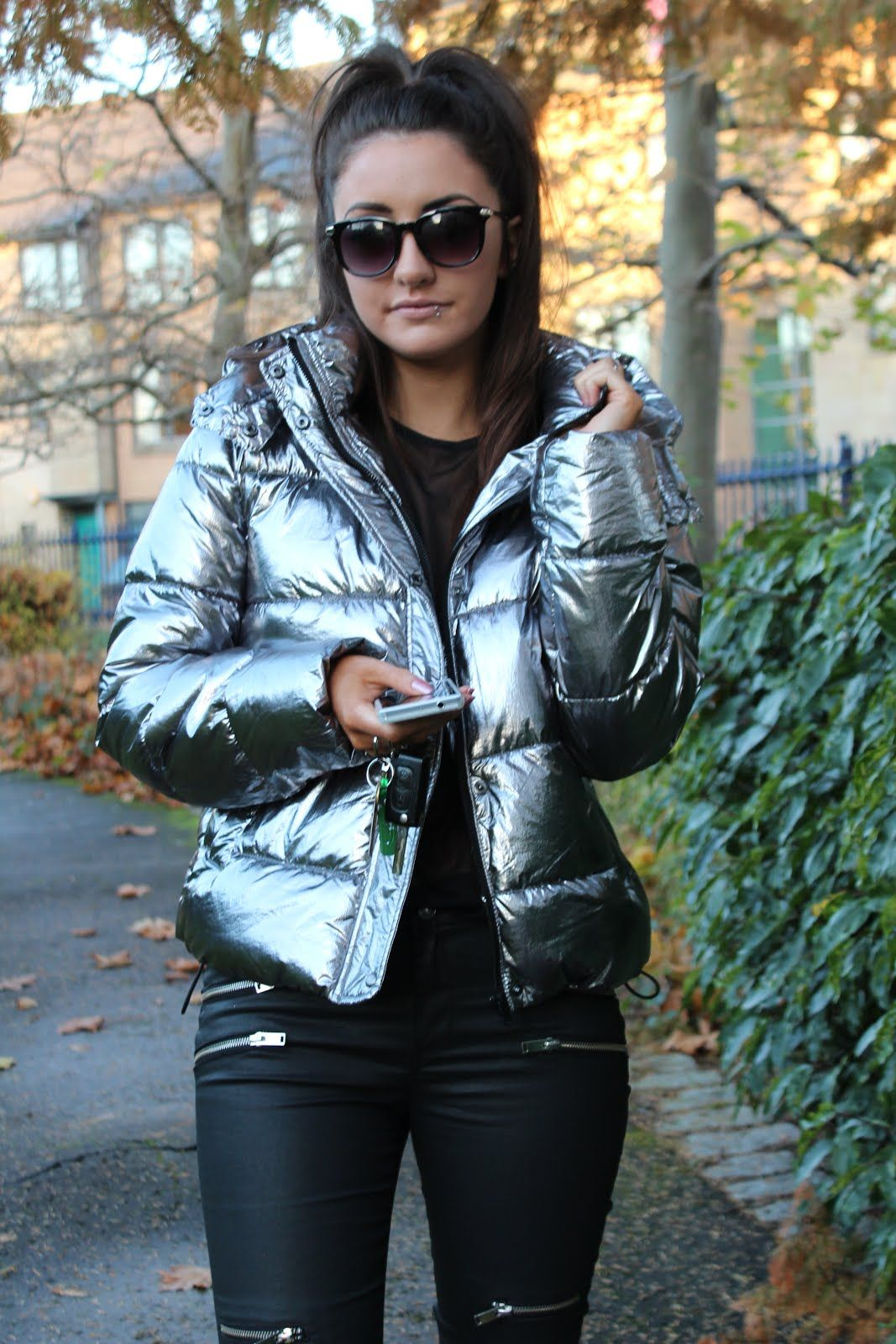 Zara This Seasons Must Have Silver Puffer In 2019