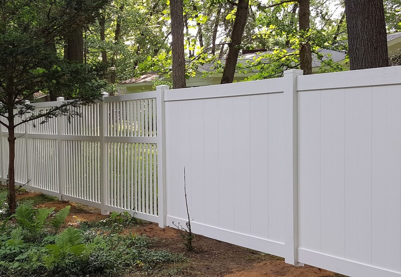 6 Trimax White Vinyl Privacy Fence 6 Colonial Picket
