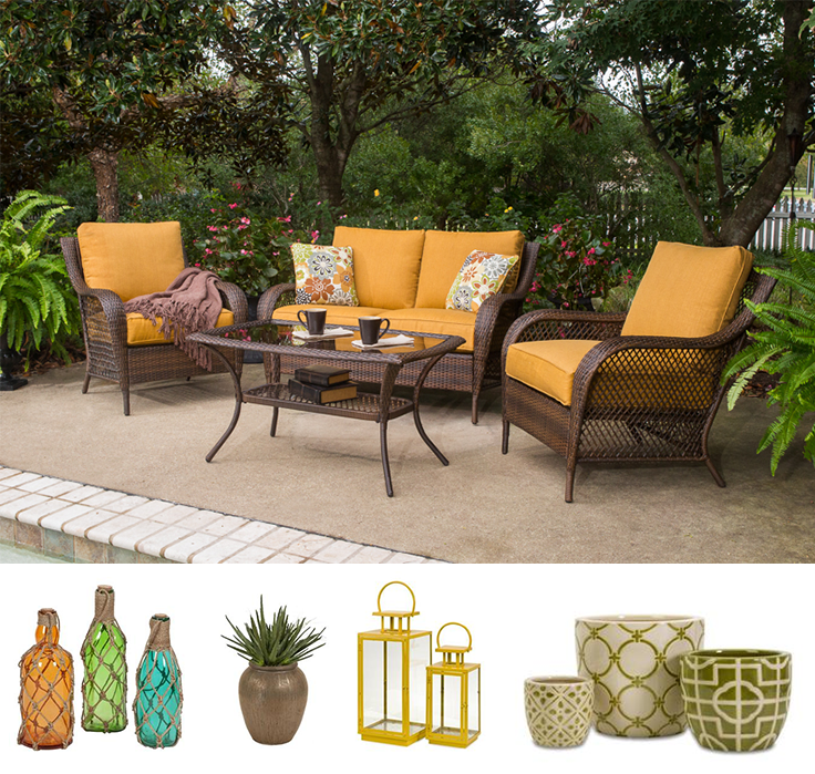 4 Piece Aruba Deep Seating Patio Set By Agio Outdoor Furniture Features 2  Deep Seating Chairs, A Cozy Love Seat And A Stunning Cocktail Table Is The  Perfect ...