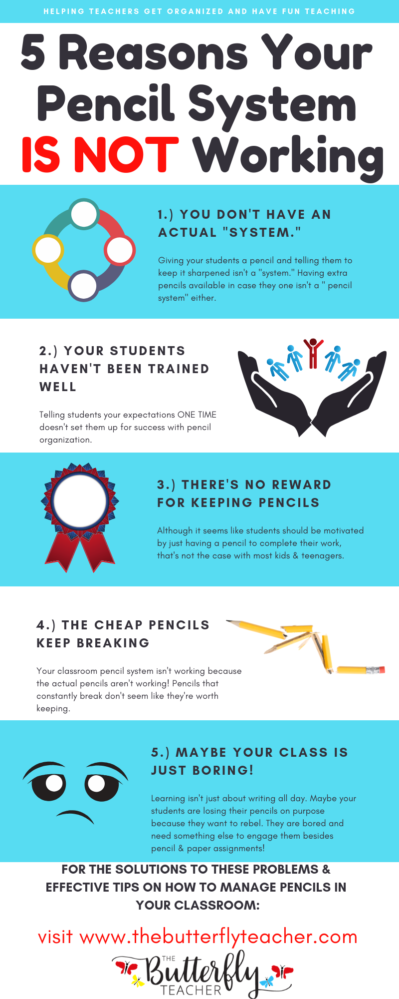 5 Reasons Your Pencil System in the Classroom Isn't Working is part of Teacher help, Classroom pencils, Have fun teaching, Teacher preparation, Teacher blogs, Teaching blogs - This post shares possible reasons your pencil system in the classroom isn't working + a FREE Pencil Planning Guide with extra pencil hacks