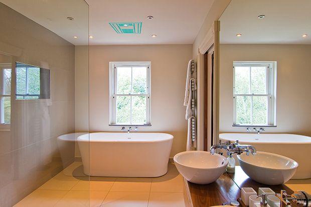 Beau Bathroom Audio System In A Sleek Contemporary Bathroom
