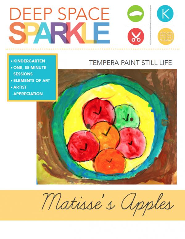 Matisse Inspired Apple Painting Deep Space Sparkle Apple Painting Apple Art Kindergarten Art