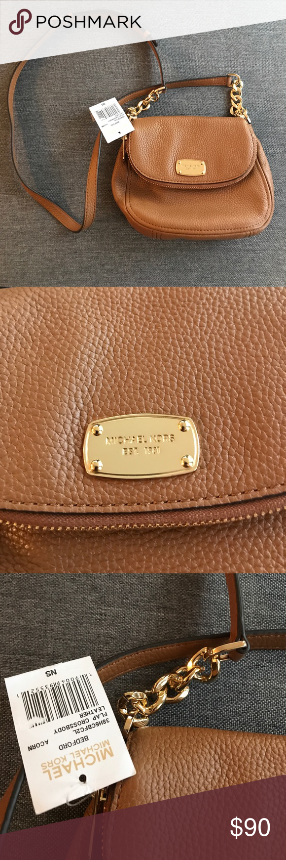 4afc036292aa ... cheapest nwt michael kors bedford mini cross body camel new with tags  mini bedford michael kors