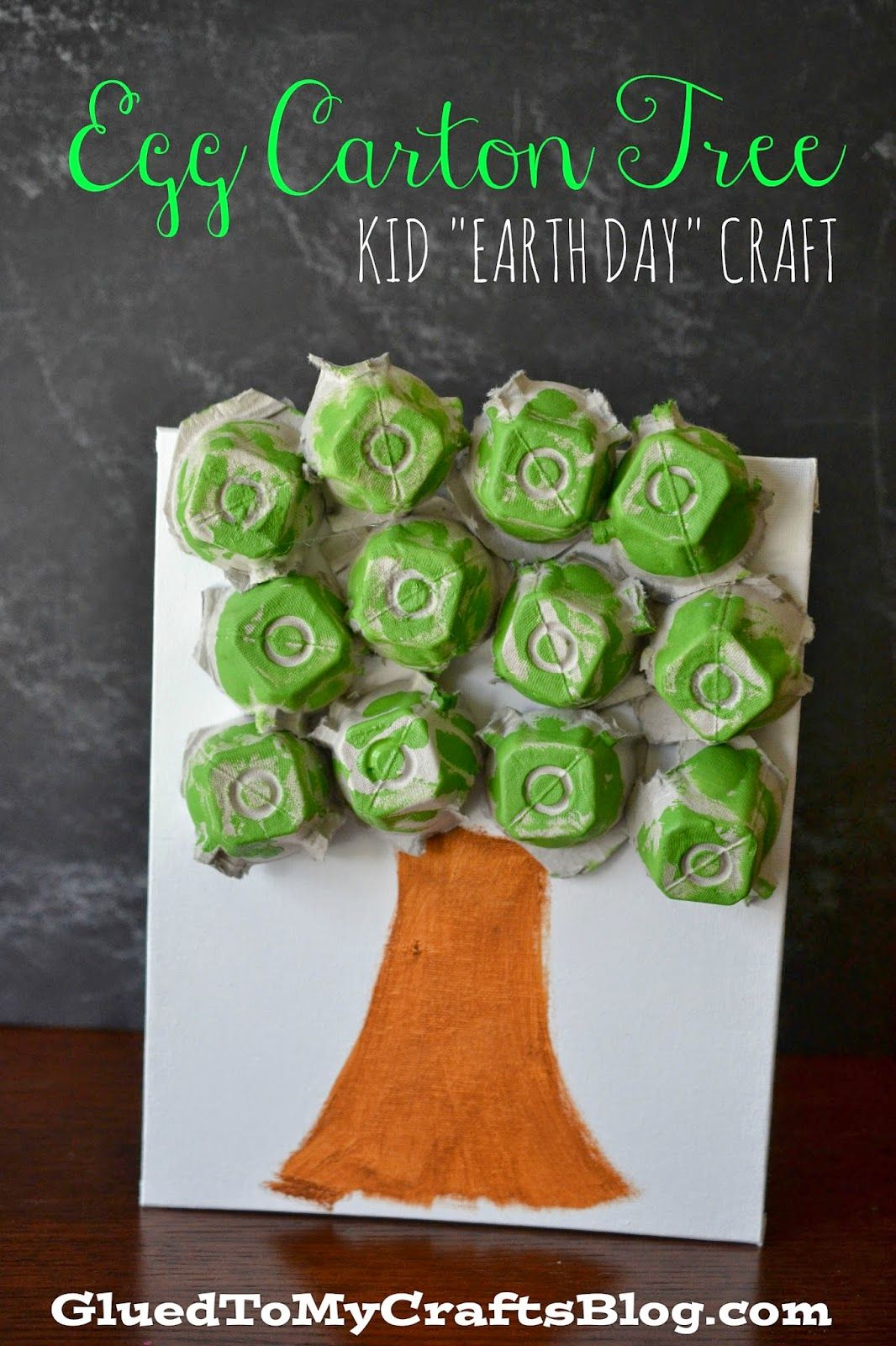 Egg carton tree kid 39 s earth day craft egg cartons for How to recycle egg cartons