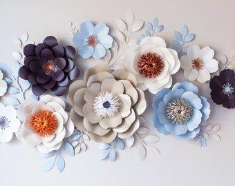Giant paper flowers tutorial / Paper flower templates / Crepe paper flowers / DIY paper flowers / Giant paper flowers