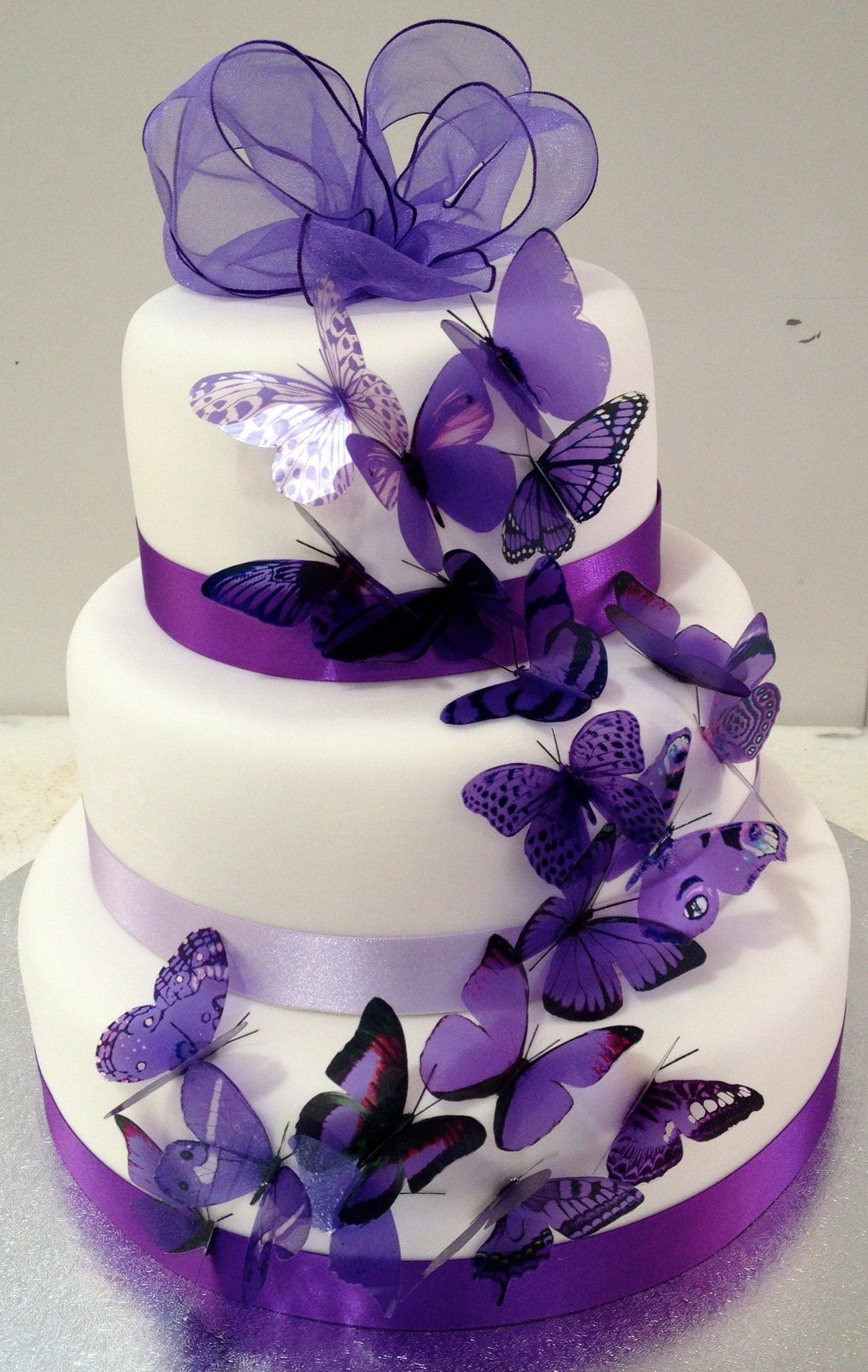 The blue cake company wedding cakes birthday cakes 2016 car release - Purple Wedding Cakes Purple Wedding Cakes With Butterflies Picture