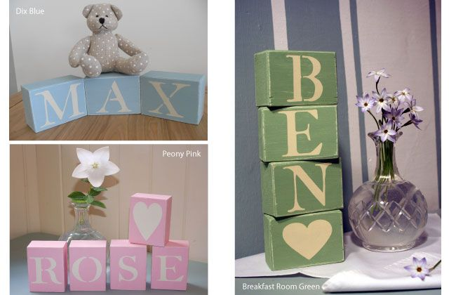 Vintage Wooden Letter Blocks Personalised Baby And