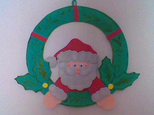 Moldes gratis para manualidades de navidad en goma eva - Papa noel manualidades ...