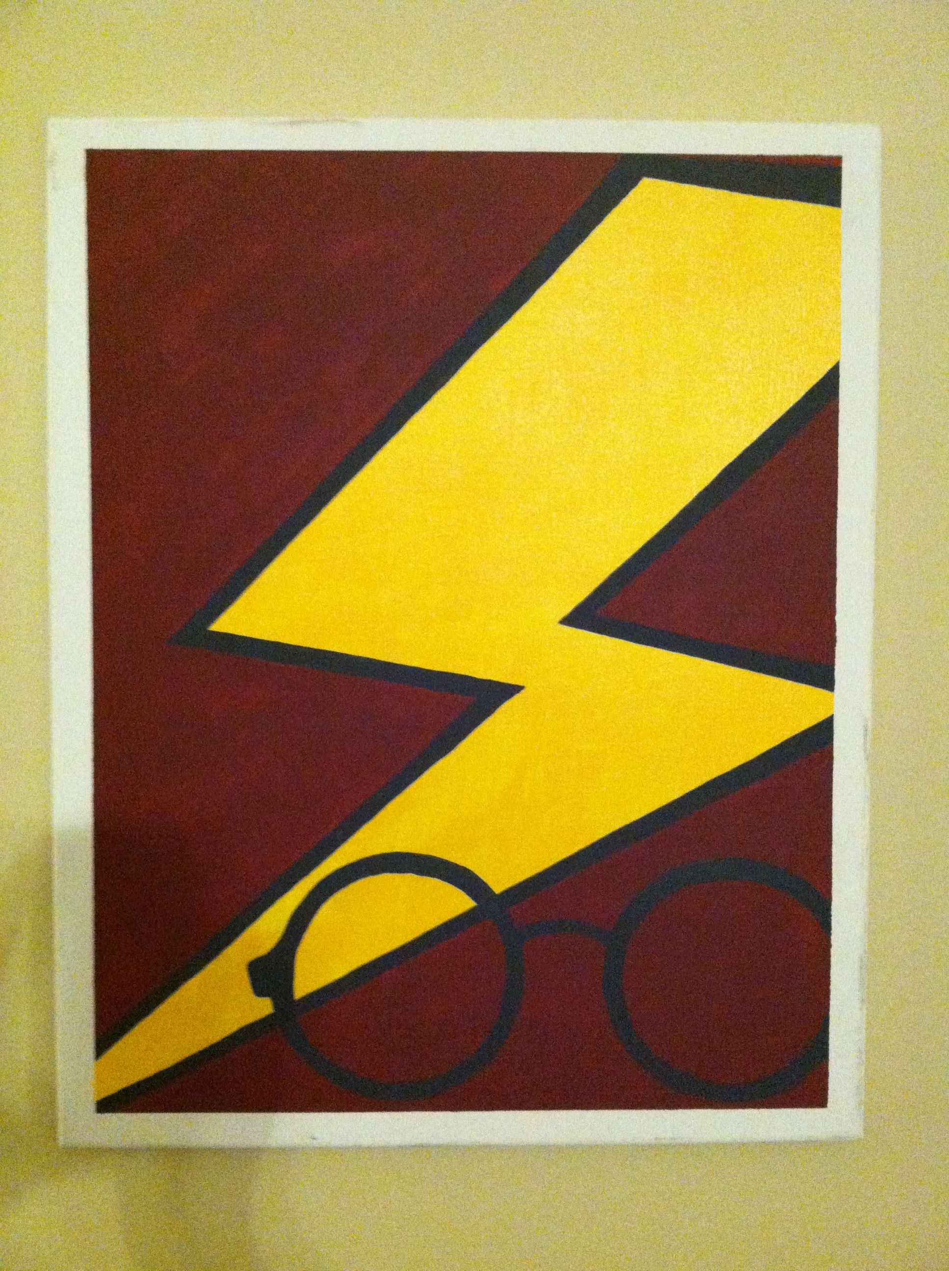Harry Potter Diy Canvas (Halloween College Harry Potter)