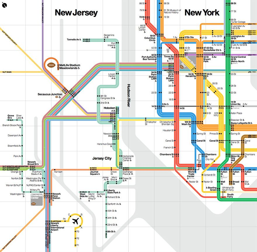 What Influences the Design of NYC Subway Maps Vignelli Associates