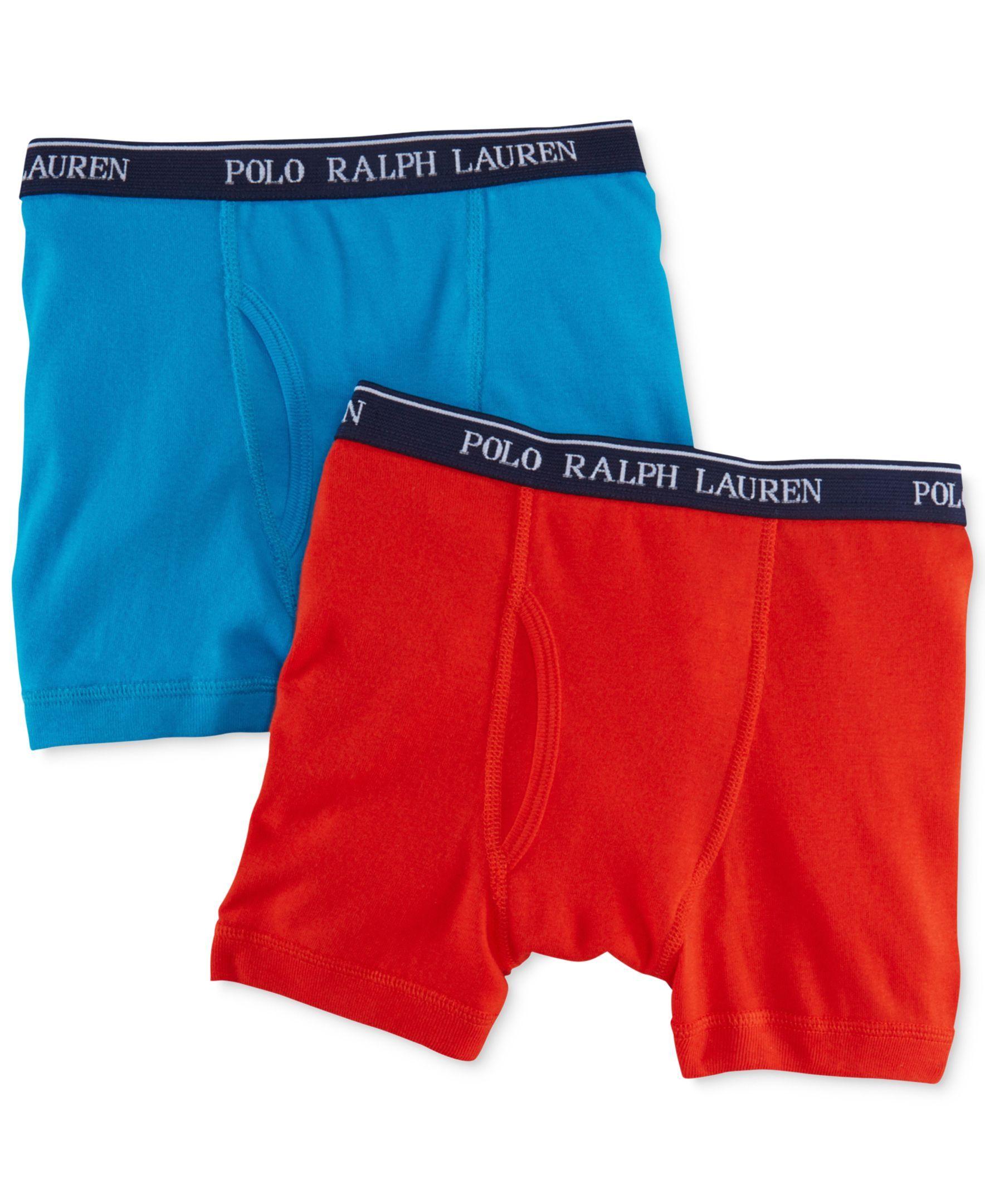 Polo Ralph Lauren Boys' or Little Boys' 2-Pack Cotton Boxer Briefs