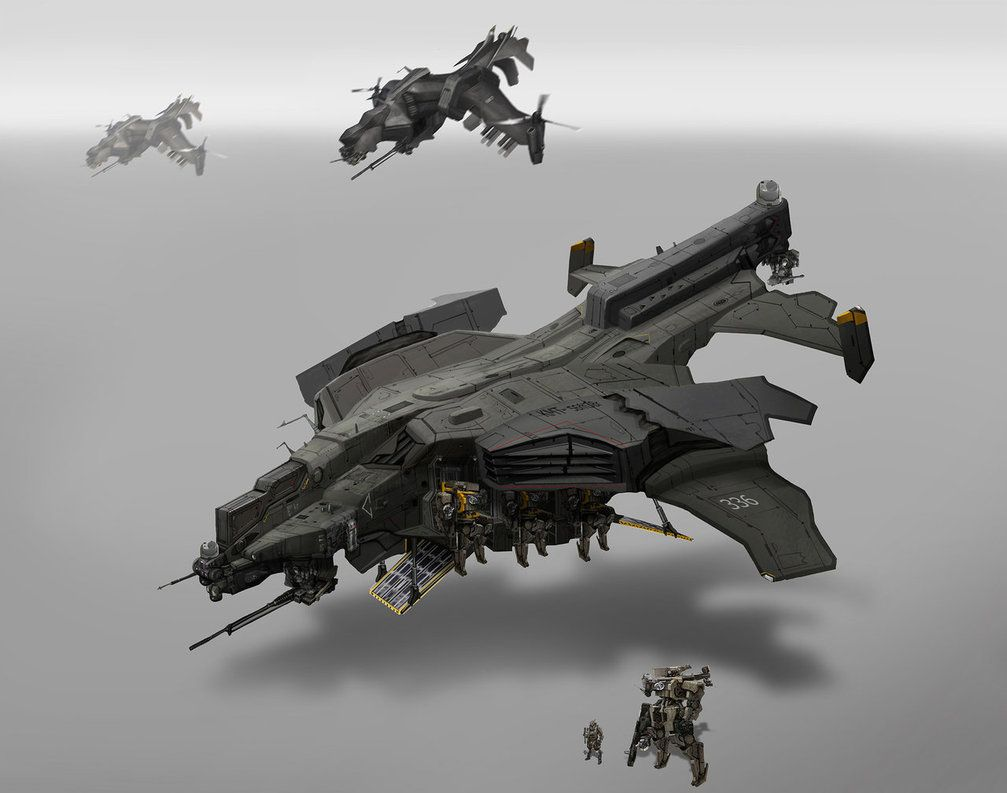 Dropship design by a concept artist in the UK, St. Theo ...