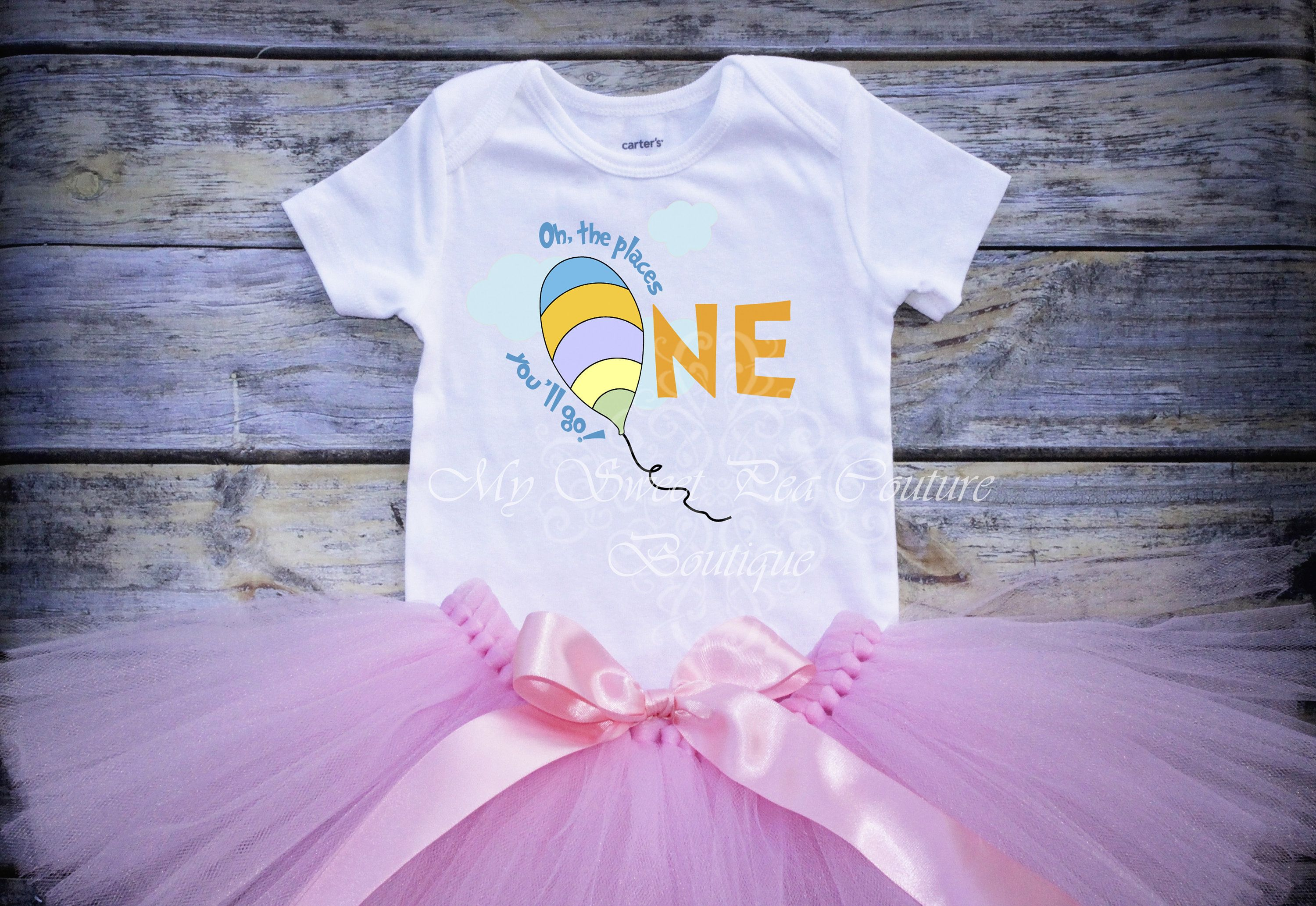 First Birthday Outfit Cake Smash Outfit One Hot Air Balloon First Birthday 1st Birthday Oh the Places You/'ll Go First Birthday Outfit