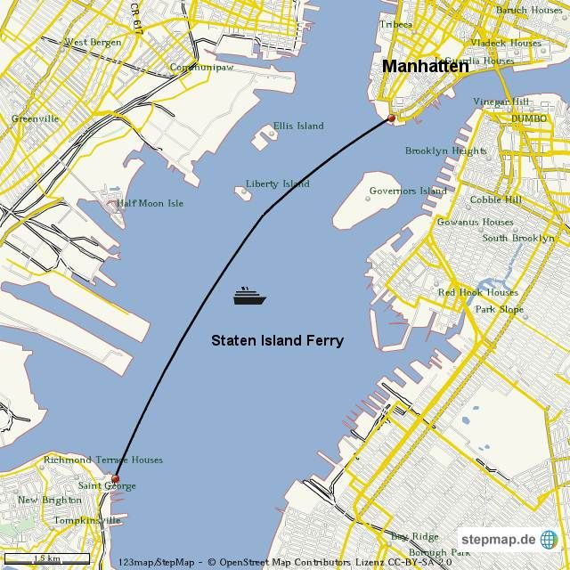staten island ferry route map Google Search Family Vacation