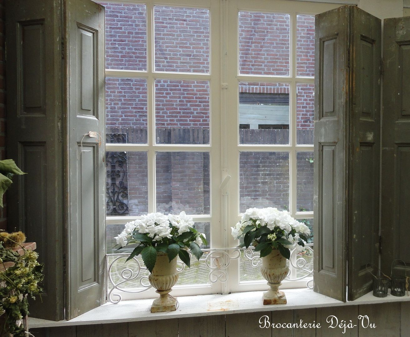 Shutters at brocanterie dejavu windows pinterest window ledge