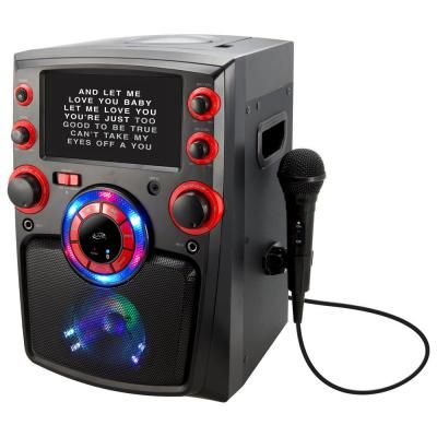 iLive Bluetooth Karaoke Machine with 7 in. TFT Monitor and LED Light Show-IJMB587B - The Home Depot