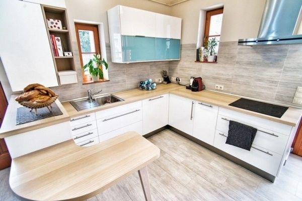 Bois Comptoirs cuisine rustique moderne meubles de cuisine blanche