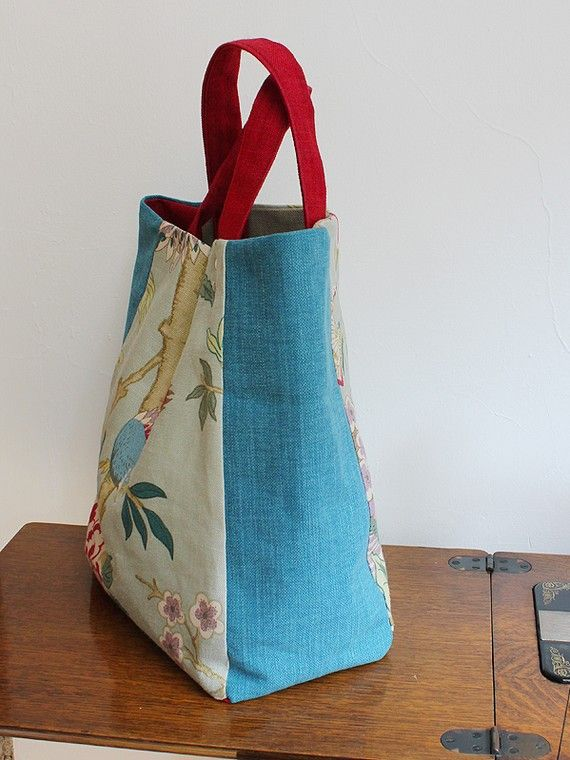 Linen and Canvas Tote Bag by PortobelloBags on Etsy