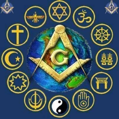 All the worlds religions are excepted to Freemasonry, one Architect many Mansions.