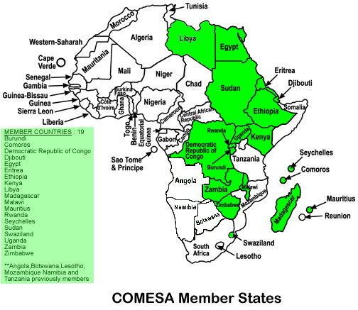 United Nations Economic Commission for Africa  maps  COMESA