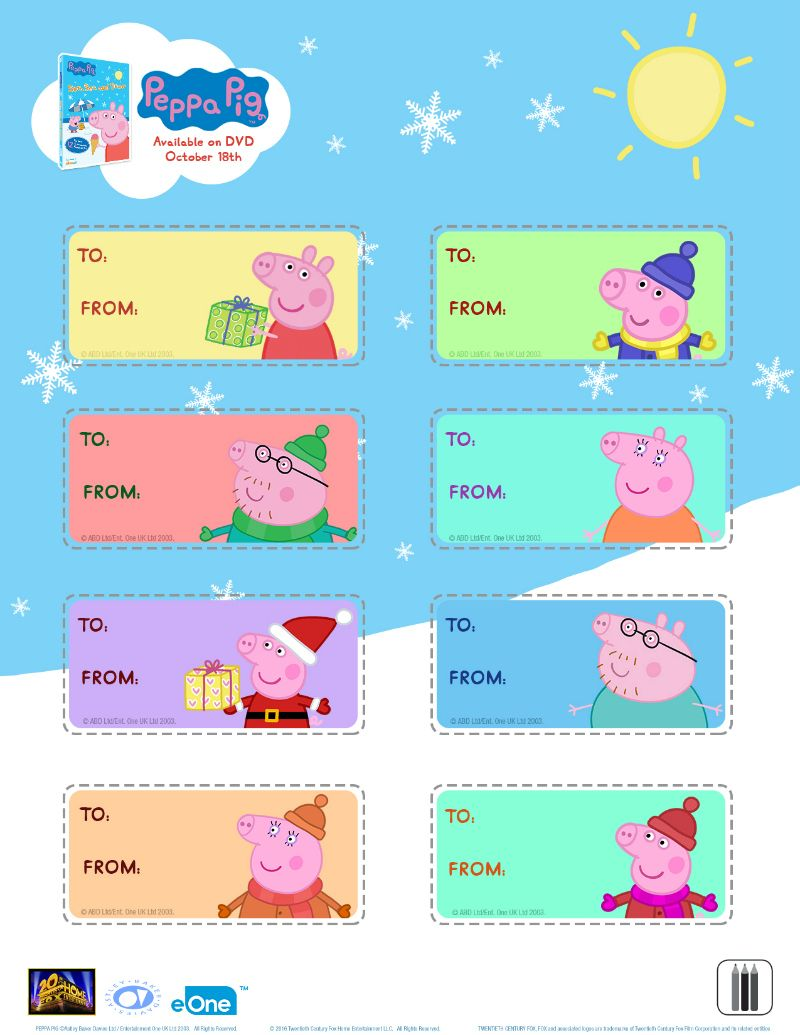 Free Peppa Pig Christmas Gift Tags | Printable Coloring Pages ...