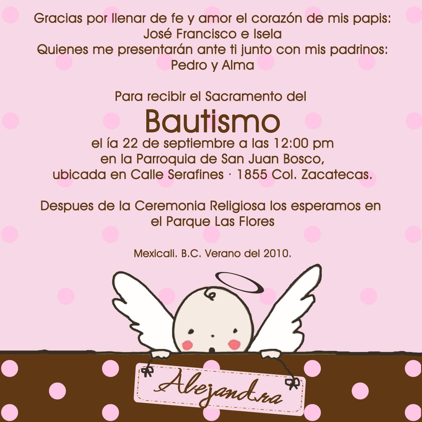 40 Awesome Invitaciones Angelitos Para Bautizo Gratis Images
