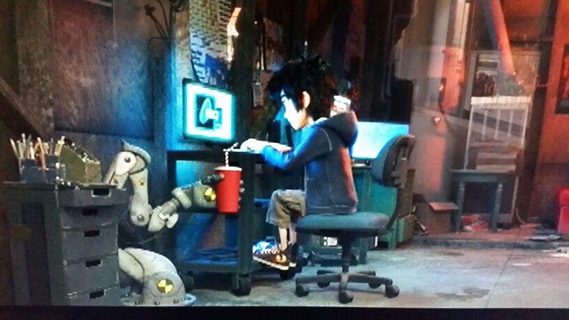 Tadashi and hiro hamada s garage laboratory in big hero